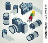 photo camera lens film element... | Shutterstock .eps vector #126296579