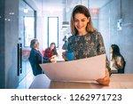 portrait of happy beautiful...   Shutterstock . vector #1262971723