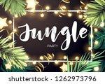 tropical christmas on the beach ... | Shutterstock .eps vector #1262973796