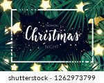 tropical christmas on the beach ... | Shutterstock .eps vector #1262973799