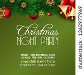 merry christmas 2019 background.... | Shutterstock .eps vector #1262977969
