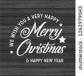 merry christmas 2019 background.... | Shutterstock .eps vector #1262979043