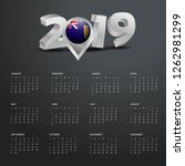 2019 calendar template. grey... | Shutterstock .eps vector #1262981299