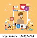 social community with man... | Shutterstock .eps vector #1262986009