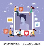 social community with man... | Shutterstock .eps vector #1262986036
