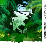 vector tropical rainforest... | Shutterstock .eps vector #126298943