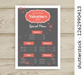 ector valentine restaurant... | Shutterstock .eps vector #1262990413