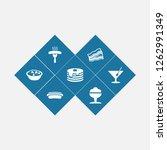Set Of 7 Dish Icons Set....
