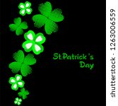 lucky clover background. happy...   Shutterstock .eps vector #1263006559