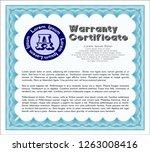 light blue retro warranty...   Shutterstock .eps vector #1263008416