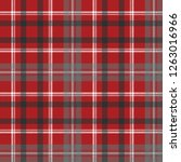 red check plaid seamless fabric ... | Shutterstock .eps vector #1263016966