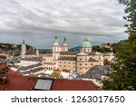 salzburg old town with after... | Shutterstock . vector #1263017650