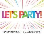 let's party illustration vector   Shutterstock .eps vector #1263018496