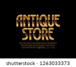 chic logo for antique store.... | Shutterstock .eps vector #1263033373