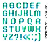 spectral letters folded of... | Shutterstock .eps vector #126303404