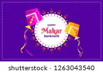 purple poster or banner design... | Shutterstock .eps vector #1263043540