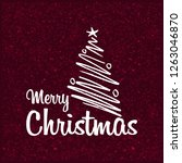 merry christmas 2019 background.... | Shutterstock .eps vector #1263046870