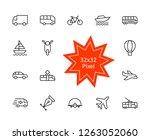 set of public transport related ... | Shutterstock .eps vector #1263052060