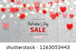 web banner for valentine's day... | Shutterstock .eps vector #1263053443