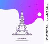 travel vaduz cathderal poster...   Shutterstock .eps vector #1263054313