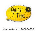 quick tips  helpful tricks ... | Shutterstock .eps vector #1263054550