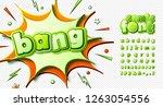 retro comic font  cartoon kid's ... | Shutterstock .eps vector #1263054556