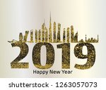 happy new 2019 year for the...   Shutterstock .eps vector #1263057073