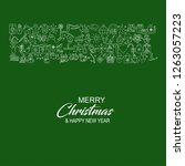 merry christmas icon banner... | Shutterstock .eps vector #1263057223
