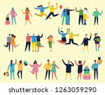 people  friends celebrating new ... | Shutterstock .eps vector #1263059290