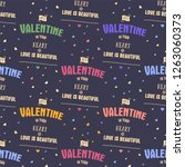 valenines day pattern. it's... | Shutterstock .eps vector #1263060373