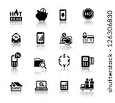 shopping icons. set symbols... | Shutterstock .eps vector #126306830
