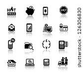shopping icons. set symbols... | Shutterstock .eps vector #126306830