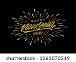 happy 2019 new year. holiday... | Shutterstock .eps vector #1263070219
