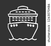 cruise ship in front view chalk ...   Shutterstock .eps vector #1263070486