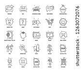 25 business concept mix line... | Shutterstock .eps vector #1263072076