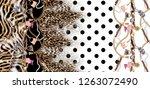 belt and chain leopard pattern... | Shutterstock . vector #1263072490