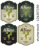 set of four labels for wine...   Shutterstock .eps vector #126307250