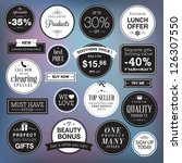 set of luxury badges and... | Shutterstock .eps vector #126307550