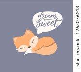 lovely animal cartoon character....   Shutterstock .eps vector #1263076243
