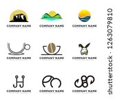 logo set for outdoor  coffee... | Shutterstock .eps vector #1263079810