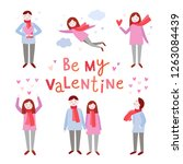 saint valentine card vector... | Shutterstock .eps vector #1263084439