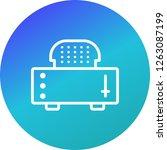 slice toaster vector icon sign... | Shutterstock .eps vector #1263087199