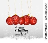merry christmas card with... | Shutterstock .eps vector #1263089020