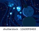 2d illustration. cartoon draw... | Shutterstock . vector #1263093403