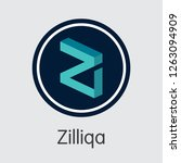 zil   zilliqa. the crypto coins ... | Shutterstock .eps vector #1263094909