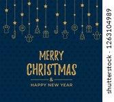 merry christmas background... | Shutterstock .eps vector #1263104989