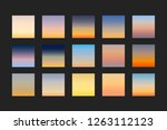 sunset and sunrise gradients ... | Shutterstock .eps vector #1263112123