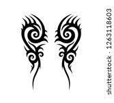 tattoo tribal  symmetric... | Shutterstock .eps vector #1263118603