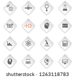 science flat rhombus web icons... | Shutterstock .eps vector #1263118783
