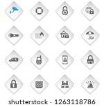 security flat rhombus web icons ... | Shutterstock .eps vector #1263118786
